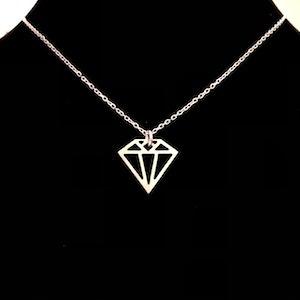 Diamant - Kort halsband