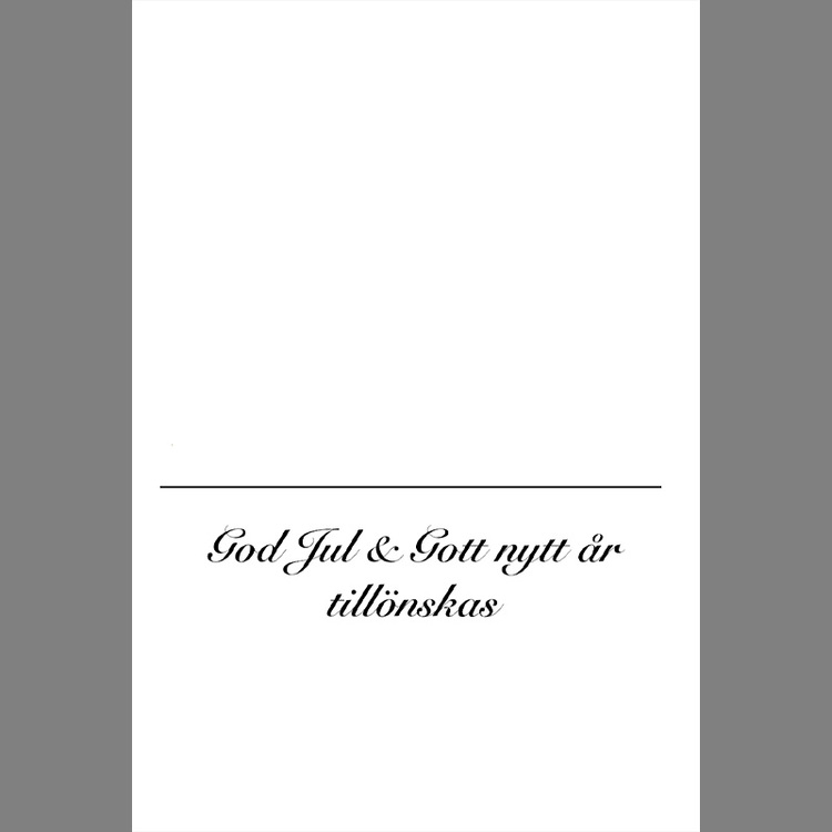 Julkort - Snöbollskastning - (minikort A7)