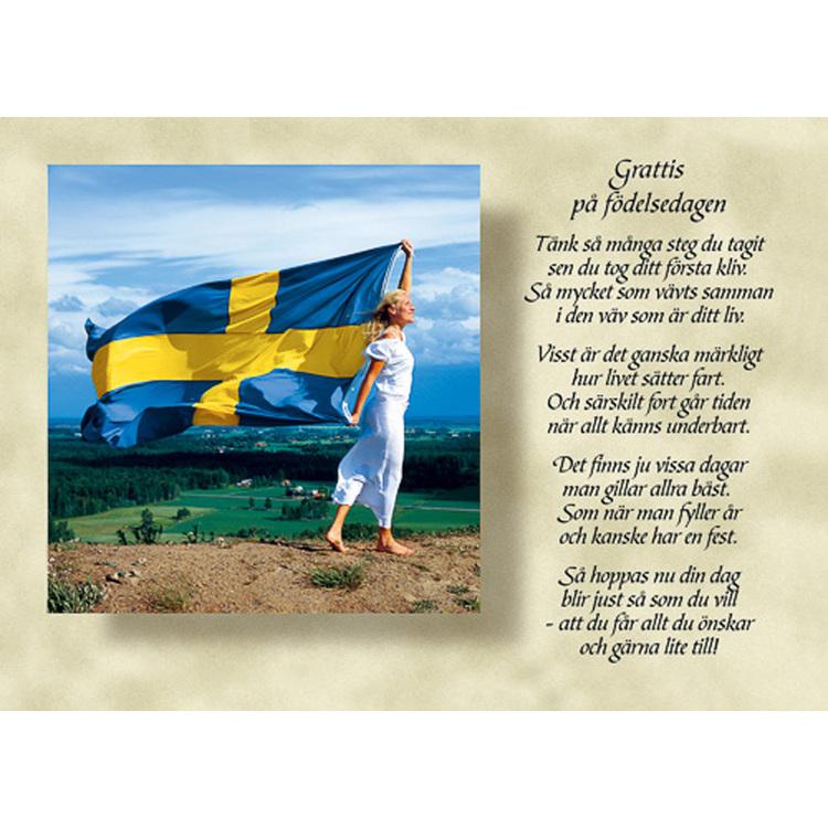 Diktkort med text av Siv Andersson - Grattis på födelsedagen. Foto: Per Johansson. Kortbutiken säljer detta vykort.