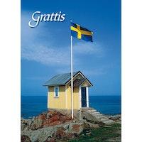 Grattis - Flaggan i topp