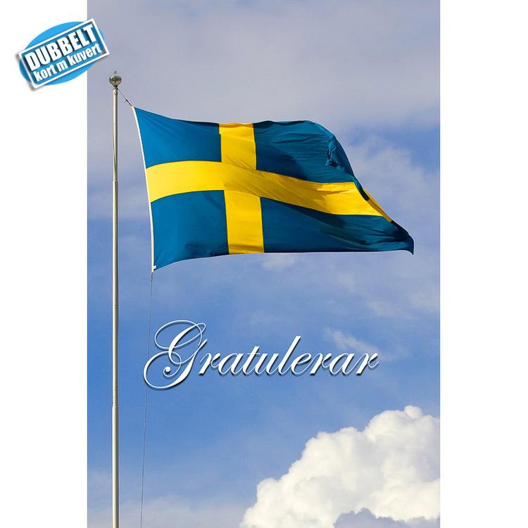 Dubbelt Vykort med kuvert  - Flagga Sverige. Foto: Per Johansson - Joanzon. Kortbutiken säljer detta vykort.