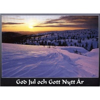 J-1207 Julkort – Vinterfjäll