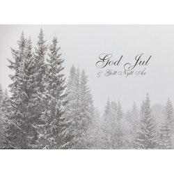 J-1219 Julkort – Snöfall i skog