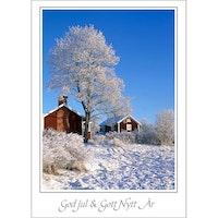 J-7098 Julkort – Stuga i vinterlandskap