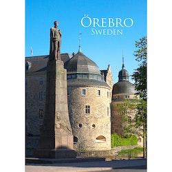 Vykort - Örebro - Karl XIV Johan staty