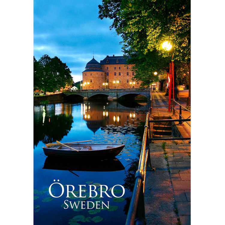 Vykort. Örebro slott - Foto: Mujo Korach. Kortbutiken säljer detta vykort.