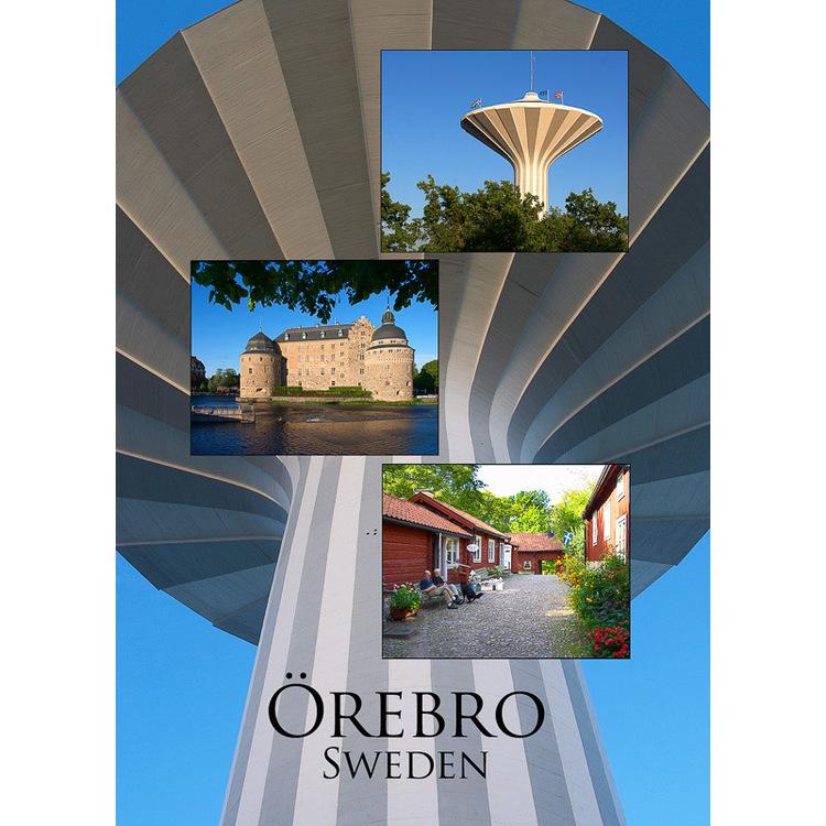 Vykort. Örebro slott - Svampen - Wadköping. Foto: Per Johansson - Joanzon. Kortbutiken säljer detta vykort.