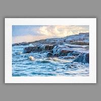 Tavla 05 Klippa i yttre havsbandet – Photopaint