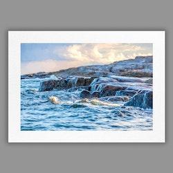 Joanzon Art - Klippa i yttre havsbandet - A4 Tavla