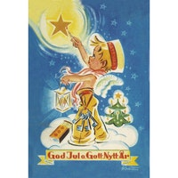 Julkort - Stjärtändare -  (minikort A7)