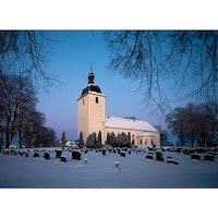 Stora Mellösa kyrka vinter