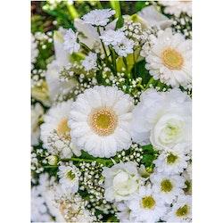 Vita blommor i bukett