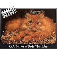 Lussekatt - Dubbelt julkort med kuvert