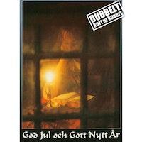 Flicka i fönster – Dubbelt julkort med kuvert