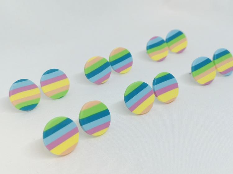 Plupp cirkel flerfärgad