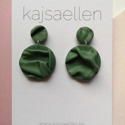Grön draperad rund