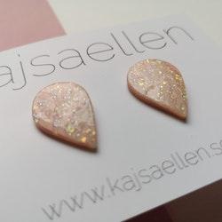 Rosa opal stud