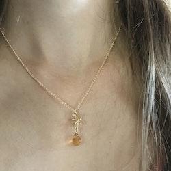 """""""Honungsbin"""" guldhänge med citrin"""