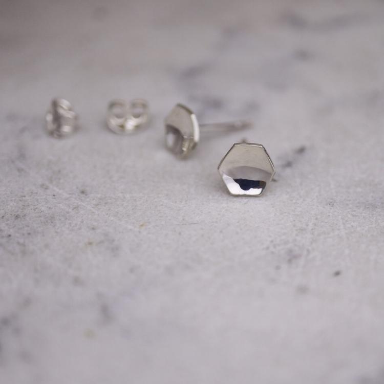 """""""Hexagon"""" stor silver"""