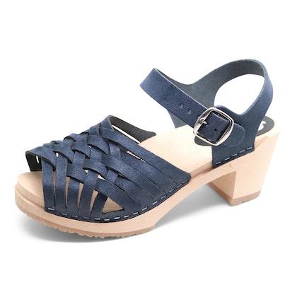 Piukk flätad sandal navy