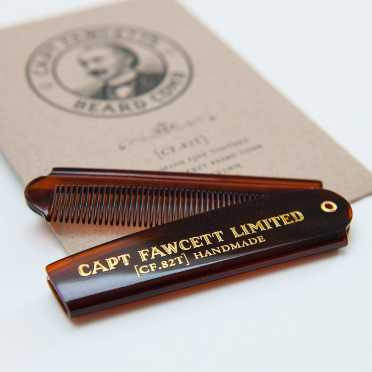 Captain Fawcett Folding Pocket Beard Comb