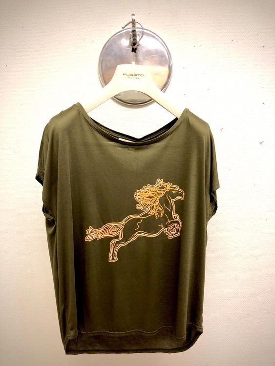 Hästen - Mossgrön T-shirt