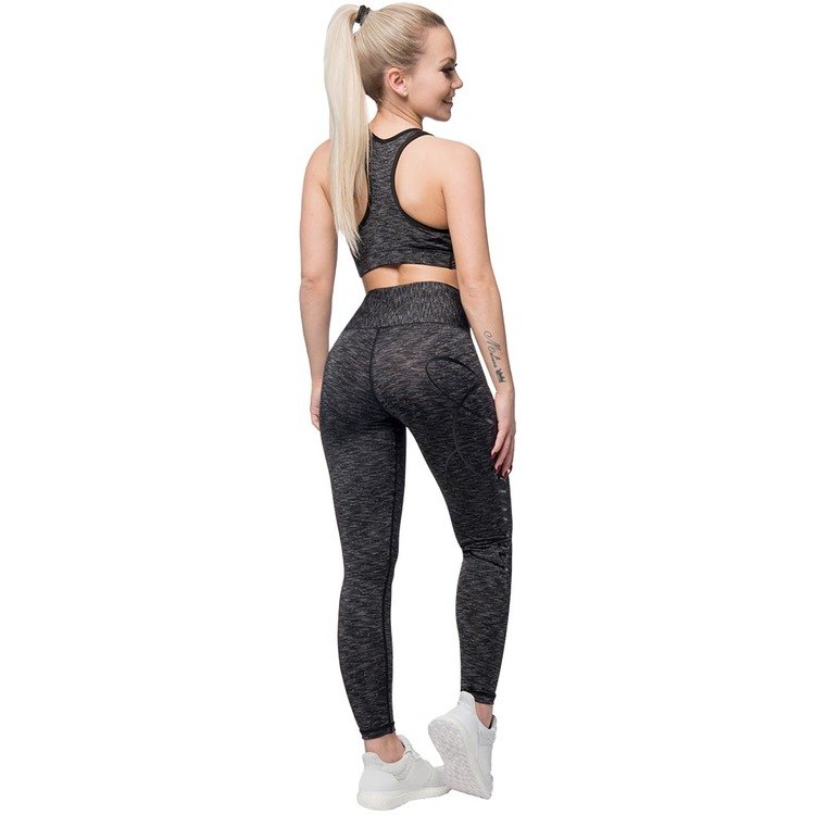 Cushy Soft Leggings Black/Gray