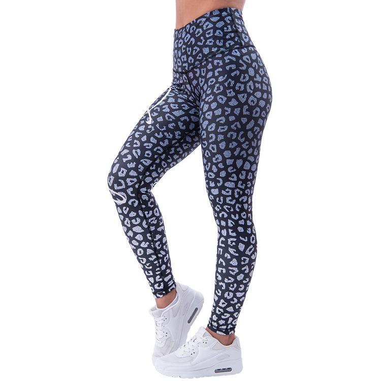 Leopardess Leggings Black/White