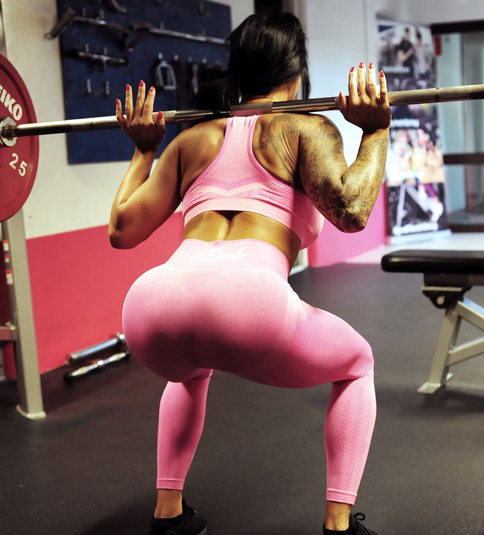 Wabisabi Seamless Leggings Electric Pink