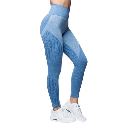 Wabisabi Seamless Leggings Ocean Blue