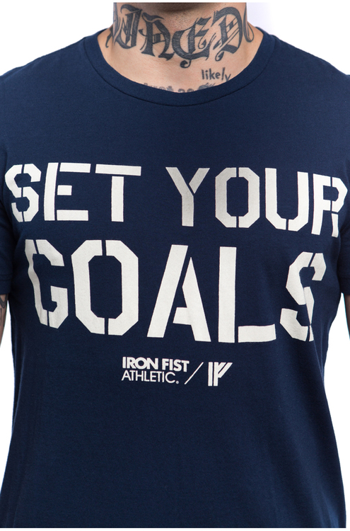 Iron Fist Athletics Mens Set Your Goals Tee M