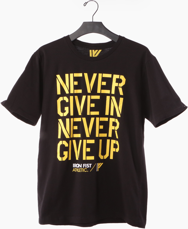 Iron Fist Athletics Mens Never Give In Tee S