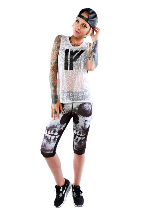 IFA Womens Seeing Spots Burnout Muscle Tank S
