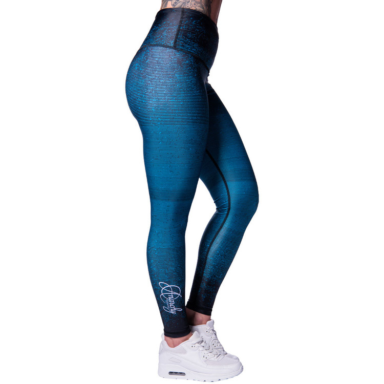 Aqua Stripe Leggings