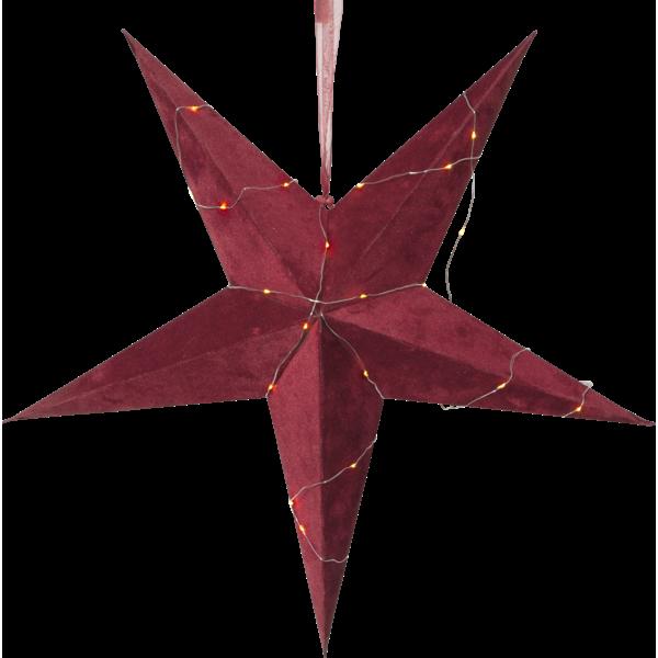 Pappersstjärna Velvet, Röd