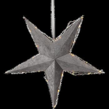Pappersstjärna Velvet, Grå