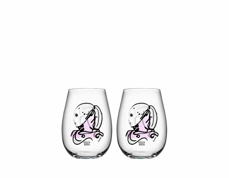 All About You Tumbler 2-Pack, Love You, Kosta Boda