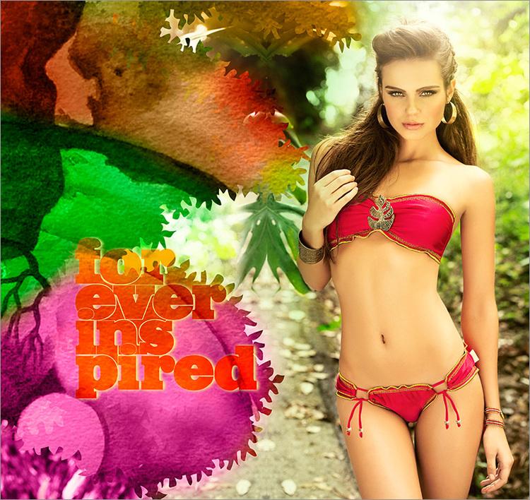 Röd Bikini Mar de hoja