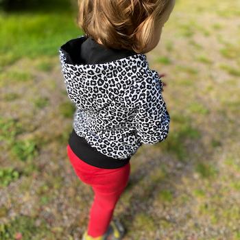Hoodie - Leopard Grå