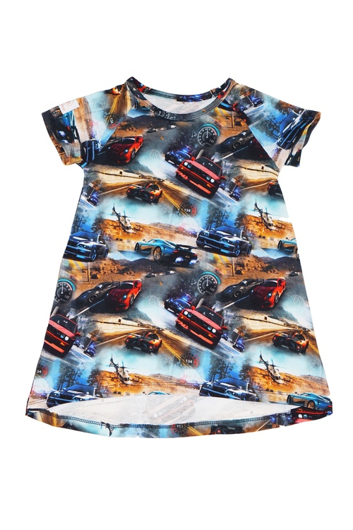 Rak klänning/Tunika - Racerbilar