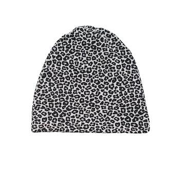 Mössa - Leopard Grå