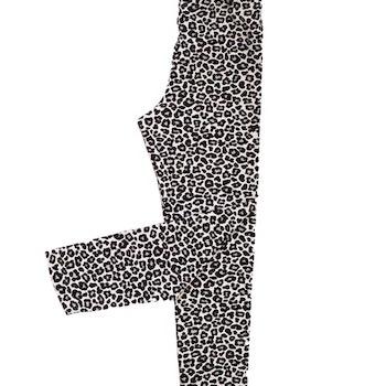 Leggings - Leopard grå (flera storlekar)