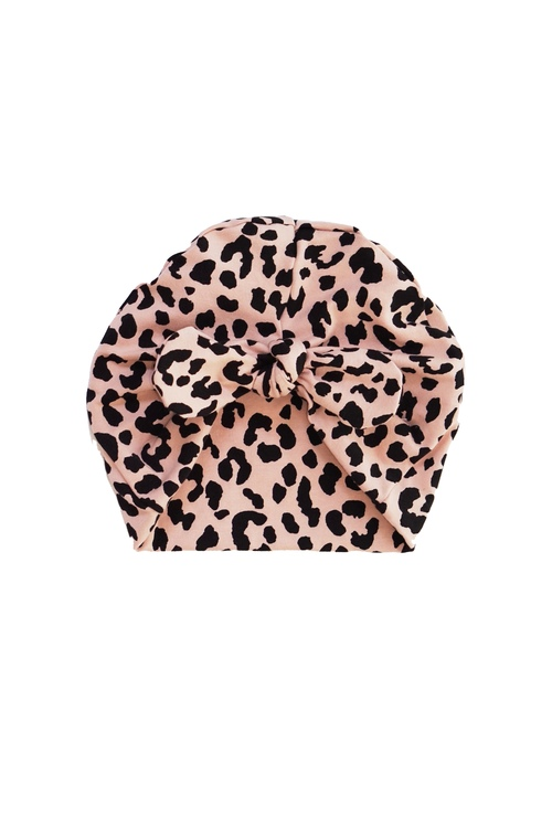 Turbanmössa knut - Leopard Gammelrosa