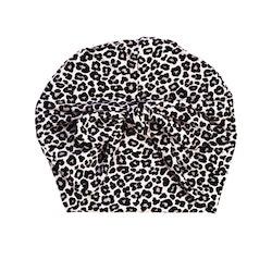 Turbanmössa knut - Leopard Grå