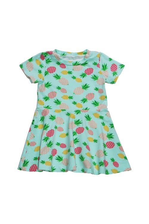 Klockad klänning - Ananas