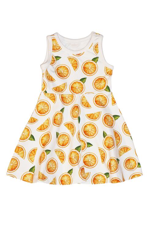 Halvcirkelklänning - apelsiner
