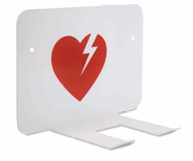 Väggfäste Hjärtstartare (vit)