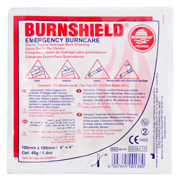 Burnshield kompress 10x10 cm
