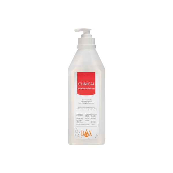 DAX Clinical Handdesinfektion 500 ml, låda á 12 flaskor