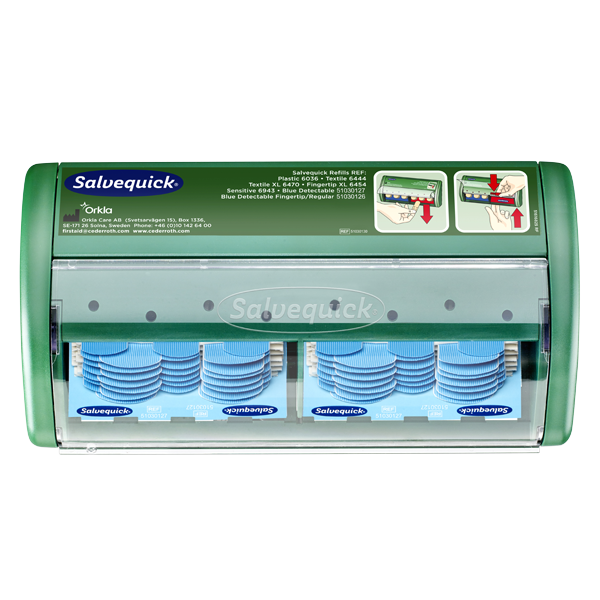 Plåsterautomat med Blue detectable plåster